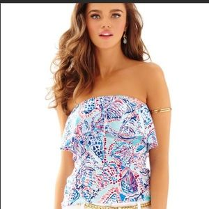 Lilly Pultizer Multi Shell Me About It Tube Top